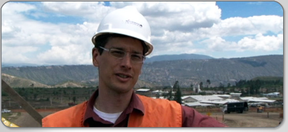 Meet Mark Boone, P.Eng., Civil Engineer, as he supervises construction of the Quito Airport in Ecuador.