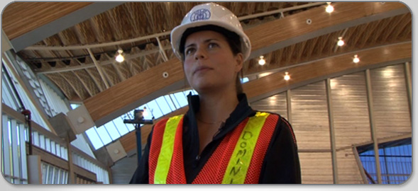 Meet Stephanie Valentuzzi, Construction Engineer-in-Training, who helped supervise construction of the Richmond Olympic Oval.